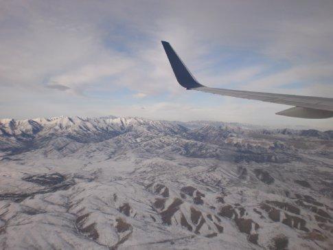flying over Colorado