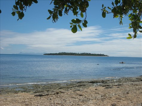 The view from my hammock on South Sea Island off of Nadi, Fiji!