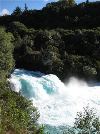 The powerful Huka Falls on the Waikato River
