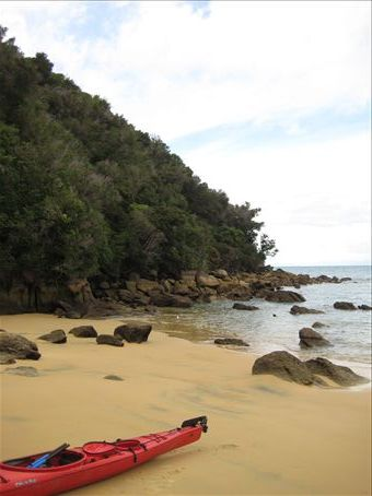 One of the wonderful beaches we saw whilst kayaking along the Able Tasman National Park coast line...
