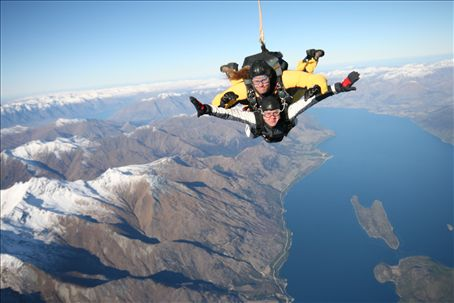 Flying Tandem Skydive Over Queenstown New Zealand New