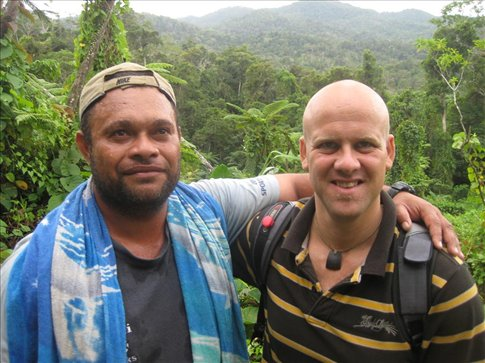 Junior and I on his maiden trek into Vanua Levu!