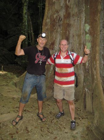 Mark and I after the caving experience... a little bit dirty, lol!