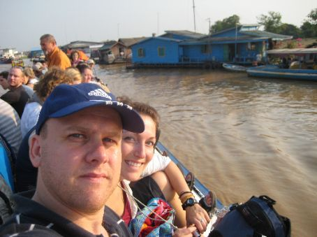 Myself and Joanie on the Siem Reap - Phnom Pehn ferry.