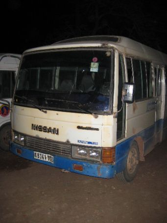The shagged out bus which I took from Poipet to Siem Reap!