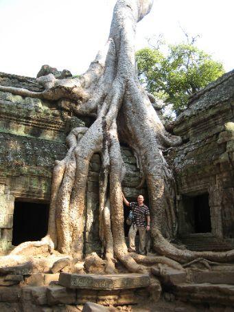 Me at Ta Phrom temple near Angkor Wat