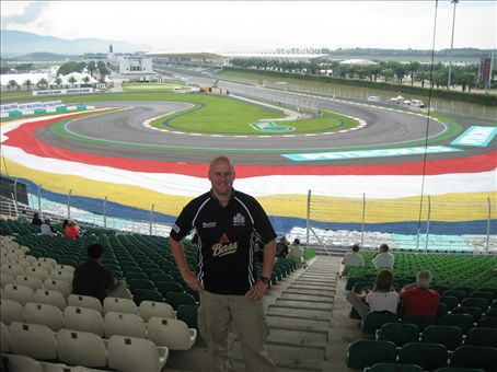 Me from my K1 seat at the Malaysian grand prix!
