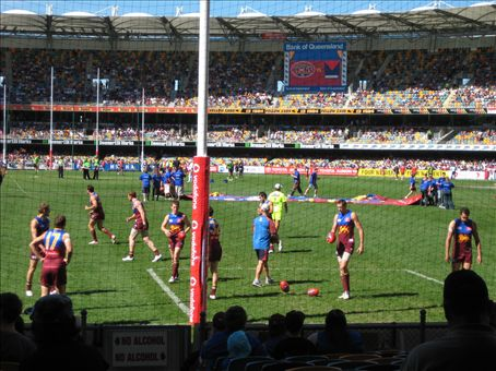 Watching the Brisbane Lions thrash Melbourne at the Gabba