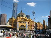 Flinders Street Station with the new Skytower behind it, Melbourne: by sl0ggs, Views[34560]