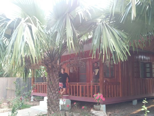 Our bungalow in Muang Ngoi. $10 between us for the night.