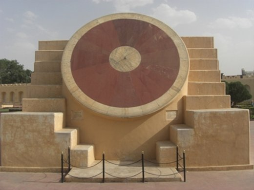 You may think that this is the biggest sundial you've ever seen....