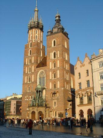 Church in Krakow's main square.