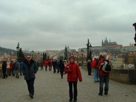 Shannon on the Charles Bridge in Prague.