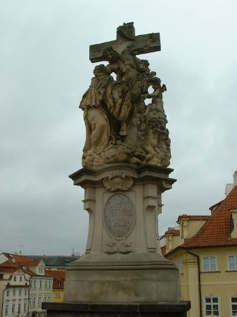Another statue on the Charles Bridge.