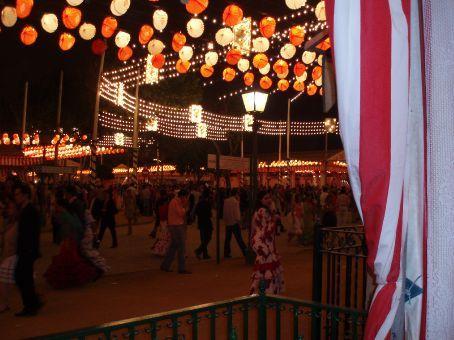 Spanish street during Feria