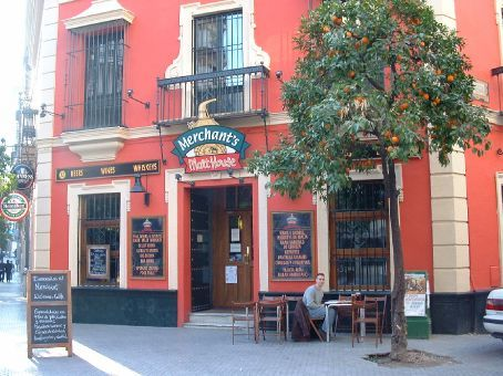Merchants Pub... one of our favorite hangouts in Sevilla.