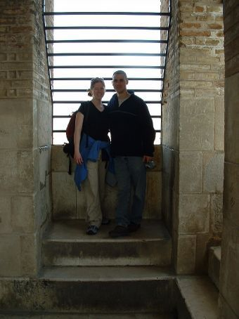 Shannon and Rob in the Giralda (Bell Tower)