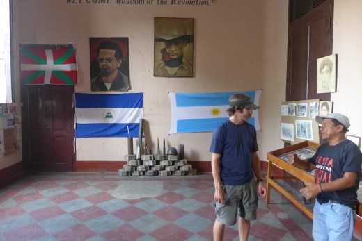Revolutionaries Museum, Leon - The guide's photo was in one of the pictures on the wall here...a veteran.