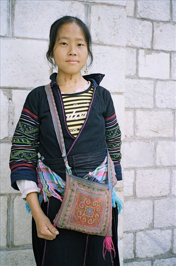 portrait of a sapa girl