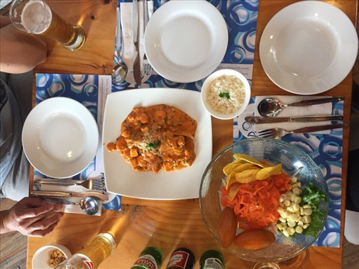 Ceviche and fish lunch