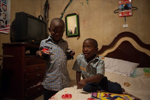 Yhuliam and his twim brother. When he was born the doctors believed he was dead.