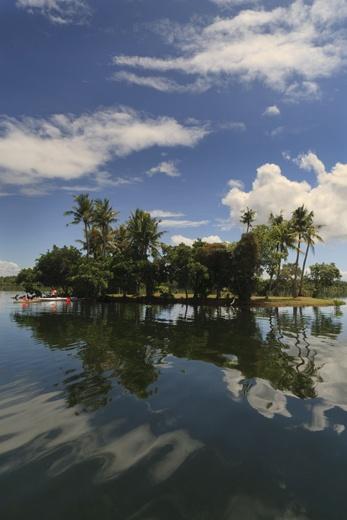 Lake Danao's islet