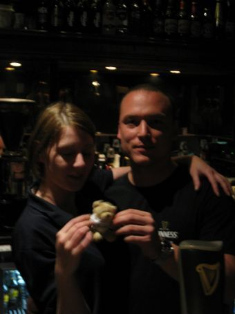 John and Jackie behind the bar