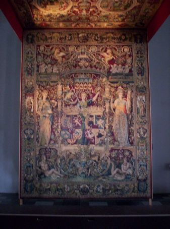 get the detail on the ballroom tapestry