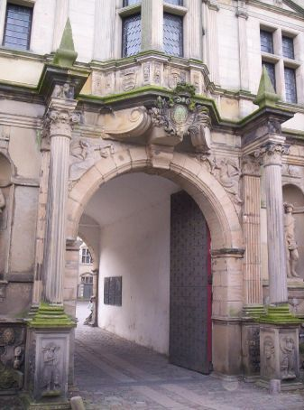 the inner gates to the courtyard