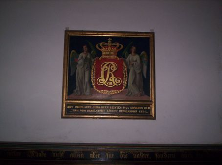 plaque on the wall of the chapel