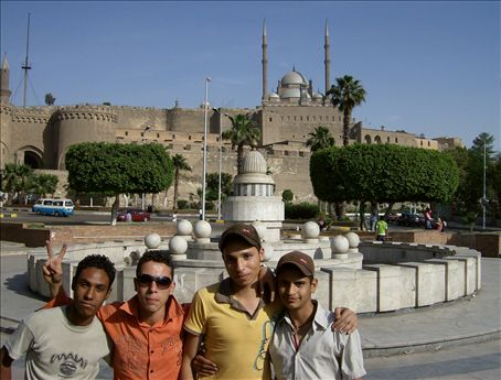 Riff raff under the watchful eye of Salah al-Din's Citadel.