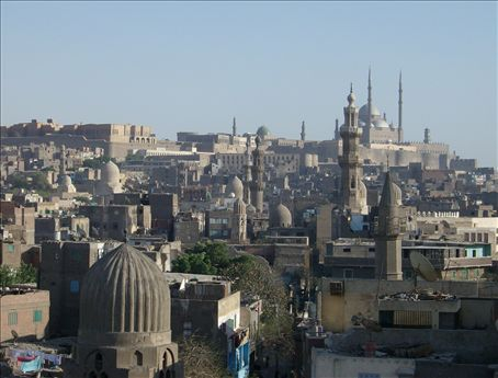 View from the minaret, of further minarets.