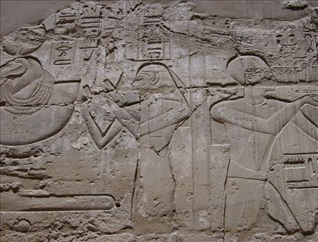 Karnak Temple, the holy diary for the daily life of the Pharaoh.