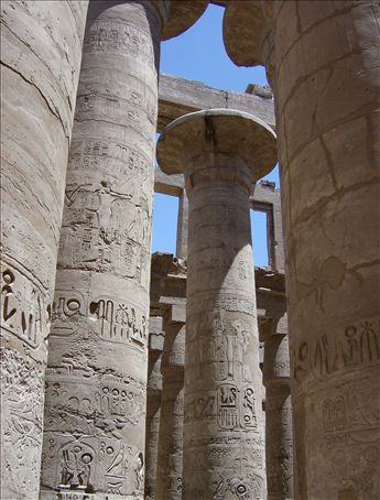 The largest 'hypostyle' hall in the world, ever, and it was built 3000 years ago and covered in heiroglyphics.