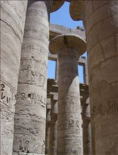 The largest 'hypostyle' hall in the world, ever, and it was built 3000 years ago and covered in heiroglyphics.: by sstolper, Views[304]