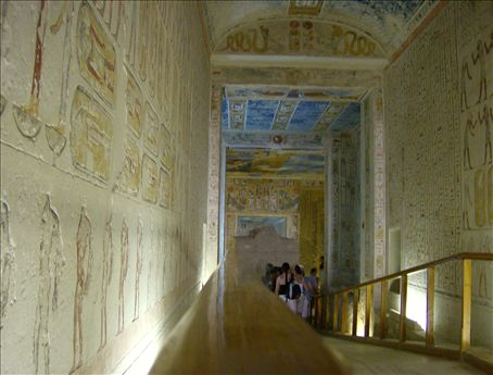 Clandestine photography in the dankness of Ramesses VI's tomb. This is less than legal, but oh my goodness this tomb validated my trip to the Valley of the Kings.