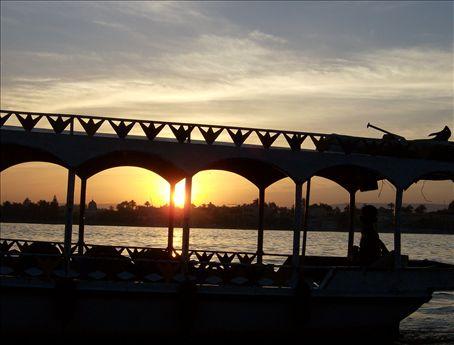 Sunset on the Rio Nile.