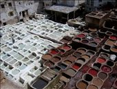 Leather-dying pits in Fez al-Bali.: by sstolper, Views[680]