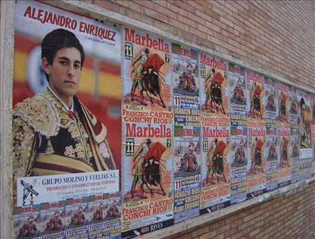 Bullfighter/model in Malaga.