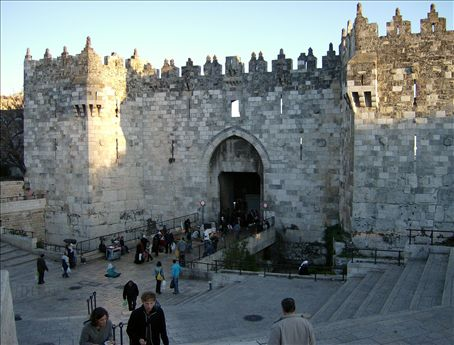 Damascus Gate, on the north side of the Old City. All urban areas should be enclosed 