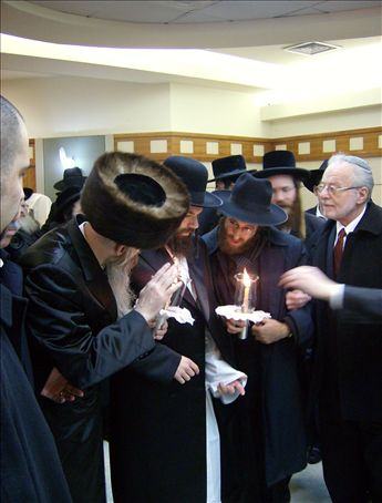 Right before the procession to the Chuppah. Dumb luck that I caught such a seemingly mystical moment on camera.