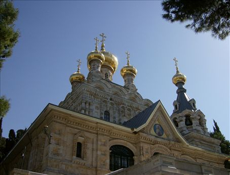 Russian Orthodox Church of Mary Magdalene; the nuns asked me if I spoke Russian; all I know how to say is