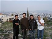 From left: Abdel Rahman, Samu'eel, Bashar, Unknown friend/cousin. Overlooking Beit Sahour from Bethlehem.: by sstolper, Views[279]
