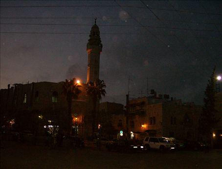 Night falls on Bethlehem.