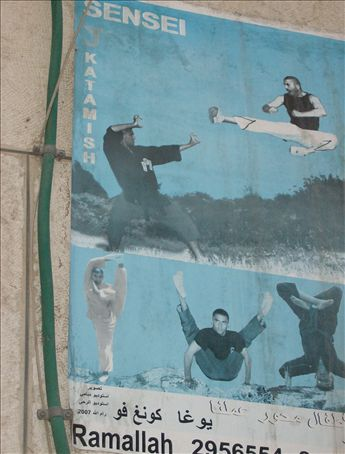The flying leg kick is epic, but peep the guy in the bottom middle.
