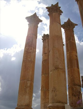 Towering ancient pillars reaching for the goddess Diana.