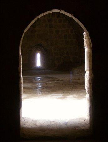 Archway in aforementioned Arab castle  (Qala'at ar-Rabaadh)