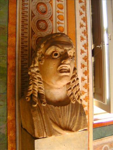 scary bust in the Vatican Museum