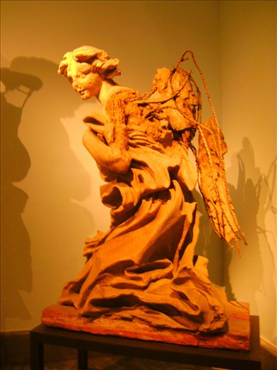 Bernini's study for an angel sculpture