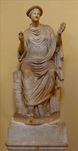 Statue of a Poetess at the Vatican Museum